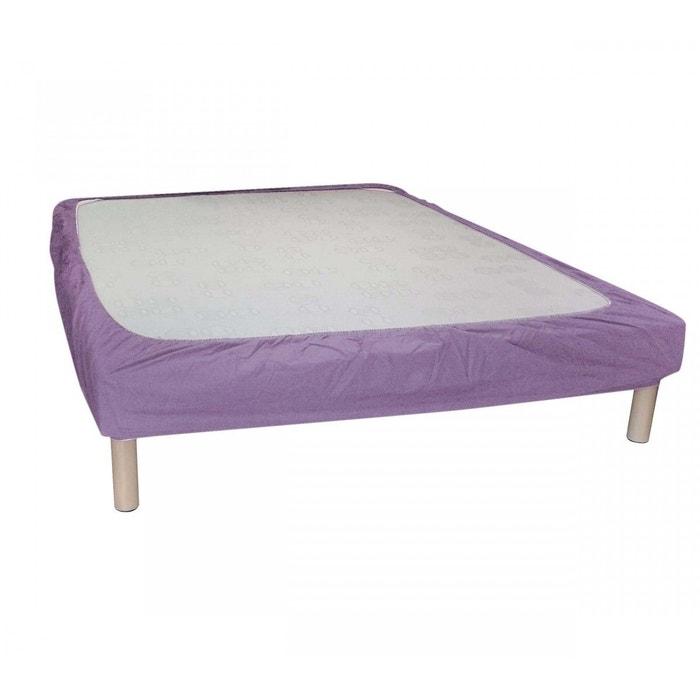 cache sommier parme bande enveloppante violet terre de nuit la redoute. Black Bedroom Furniture Sets. Home Design Ideas