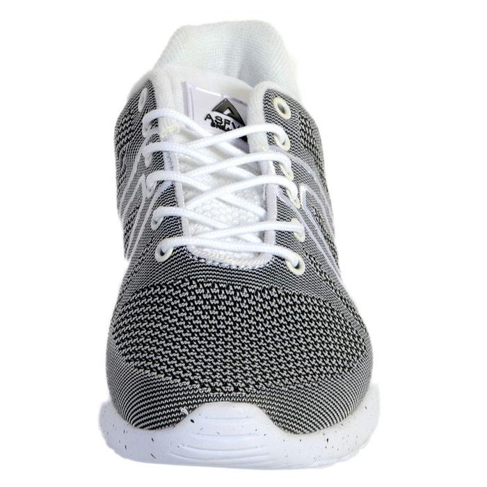 Basket super yarknit white black gris Asfvlt