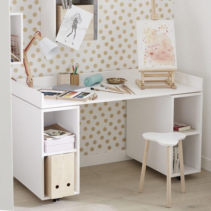 bureau sur rangements 133x65 blanc blanc alfred et compagnie la redoute. Black Bedroom Furniture Sets. Home Design Ideas