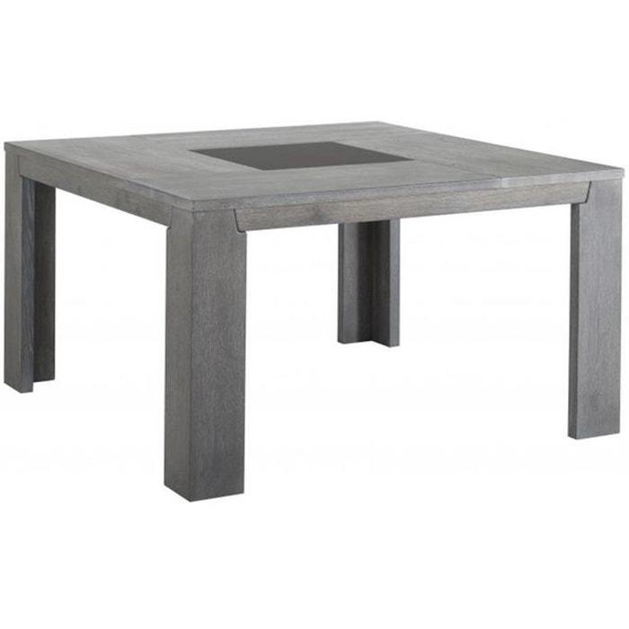 table repas carr e plaqu bois sidney gris declikdeco la redoute. Black Bedroom Furniture Sets. Home Design Ideas