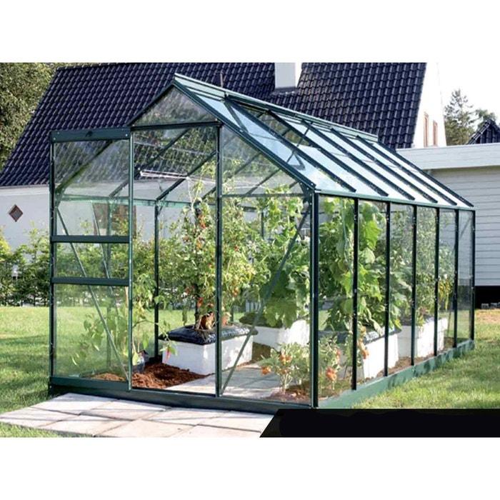 Serre de jardin en verre vénus 7,40 m² + base - vert Lams | La Redoute