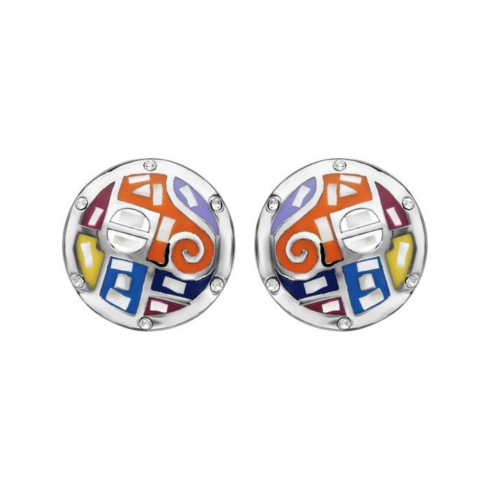 Boucles d'oreilles rond multicolore nacre blanche acier inoxydable couleur unique So Chic Bijoux | La Redoute Achats En Ligne En Vente sAVJSNBmsU