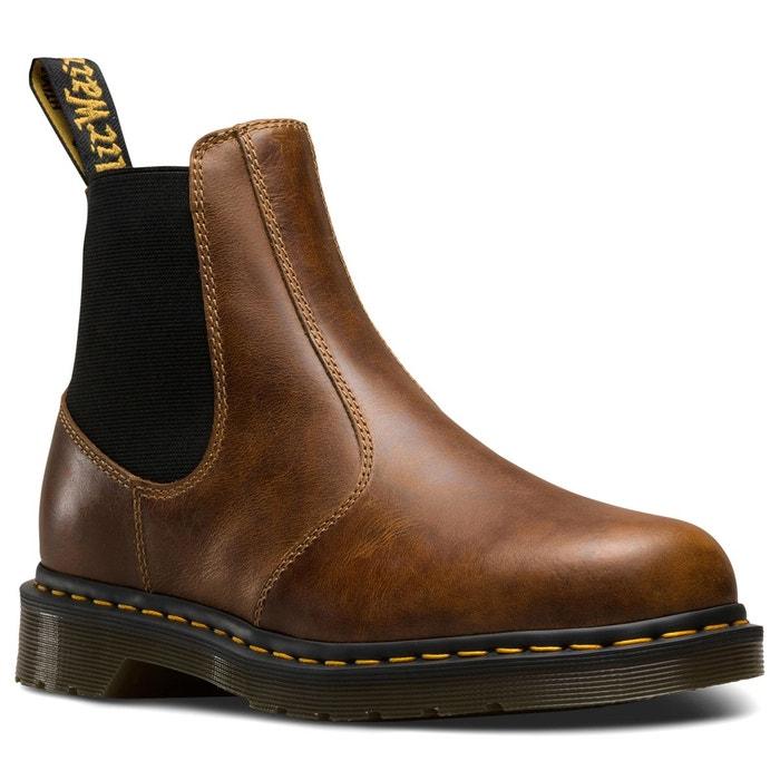 Boots cuir marron Dr Martens