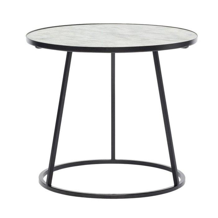 Table basse ronde marbre  métal  Hübsch  HUBSCH image 0