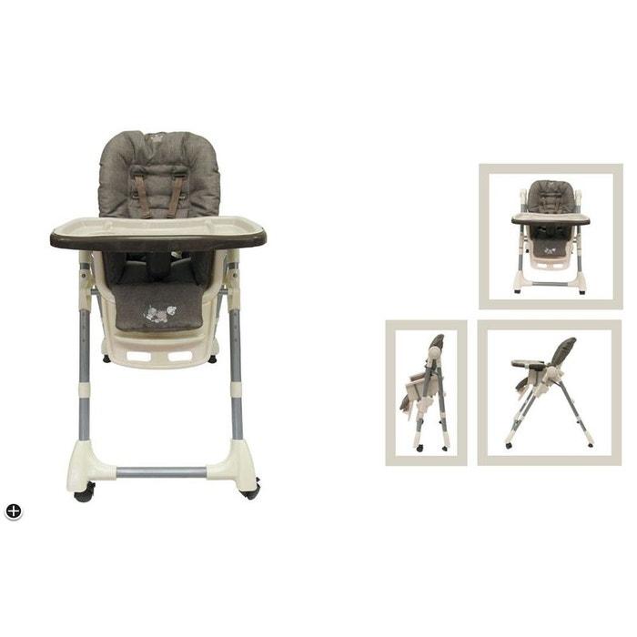 Chaise haute nattou collection max noa et tom gris for Chaise haute bebe la redoute