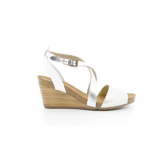 Sandale cuir femme spagnol white light blue Kickers Pour Pas Cher Pas Cher Jeu Prix Incroyable Boutique En Ligne Pas Cher FRtKoz
