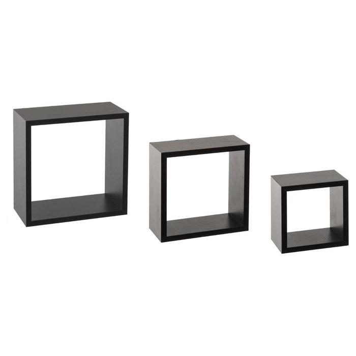 Kit De 3 étagères Murales Cube DECORATIE