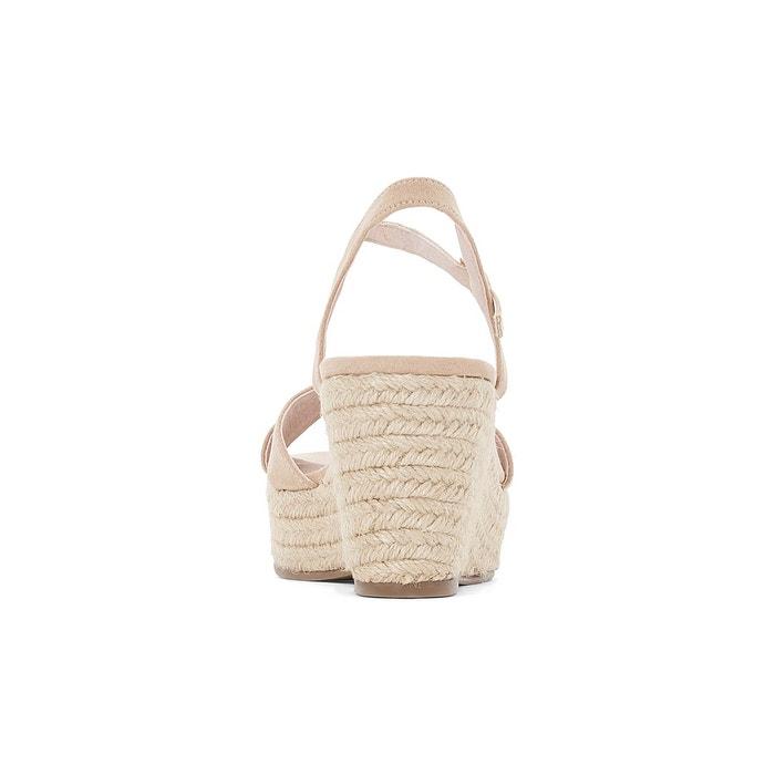 Sandales compensé corde brides croisées La Redoute Collections