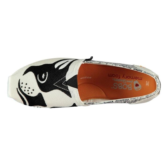 Chaussures en toile imprimé blanc/noir Skechers