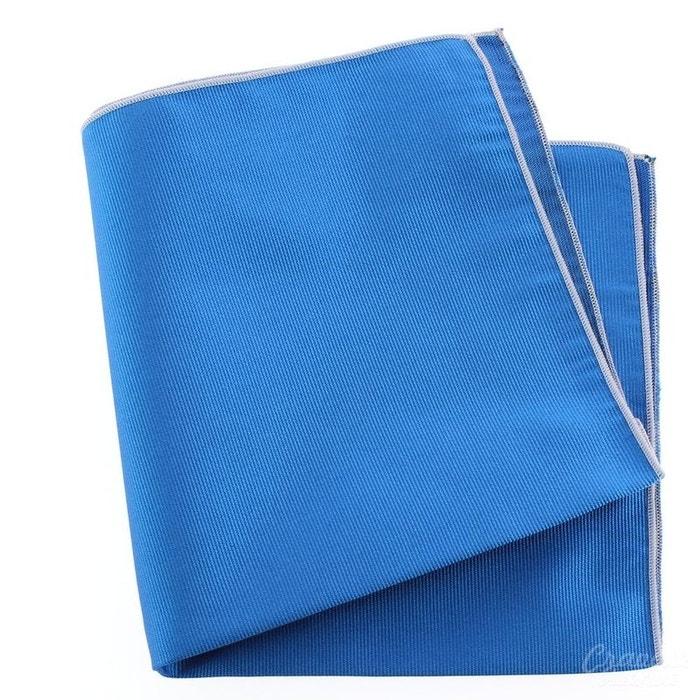 Pochette soie, bleu cina, ourlet rose crocus bleu Tony Et Paul | La Redoute