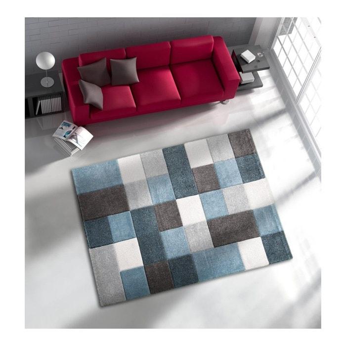 Tapis courtes m ches pour salon bleu eden bleu allotapis - La redoute tapis salon ...