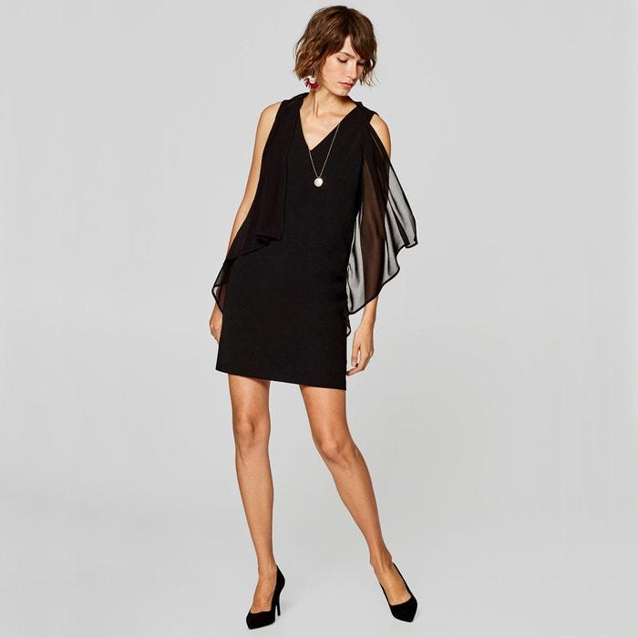 8bc134edbf1e94 Korte rechte jurk zonder mouwen zwart Esprit