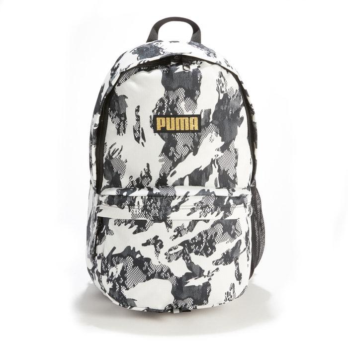 f4984f865a Mochila academy bp estampado branco preto Puma