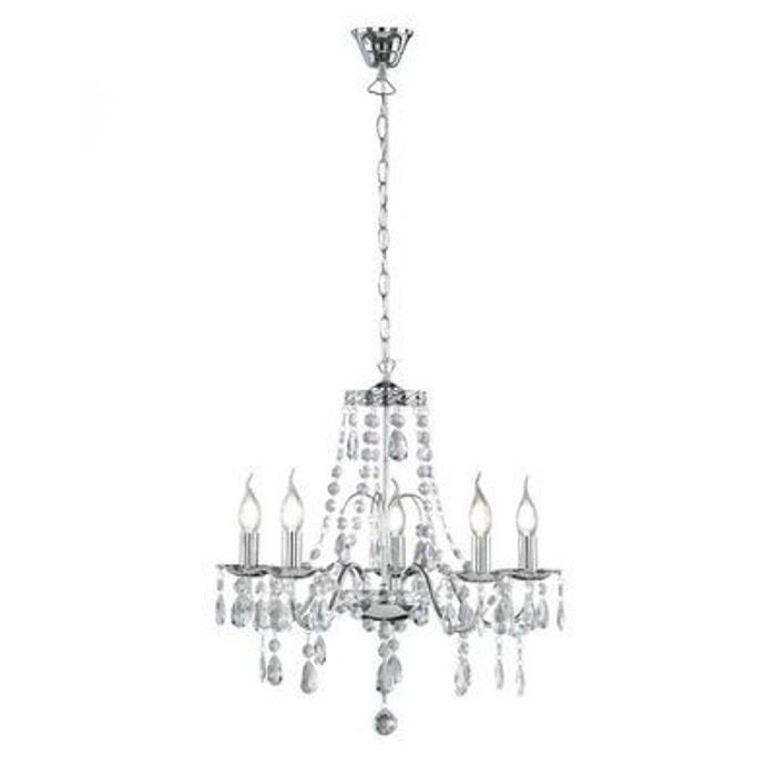 lustre baroque chrome r11085006 trio lighting trio la redoute. Black Bedroom Furniture Sets. Home Design Ideas