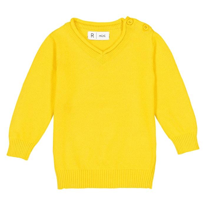 Camisola com decote em V, malha fina - 1 mês - 3 anos, Oeko Tex  La Redoute Collections image 0