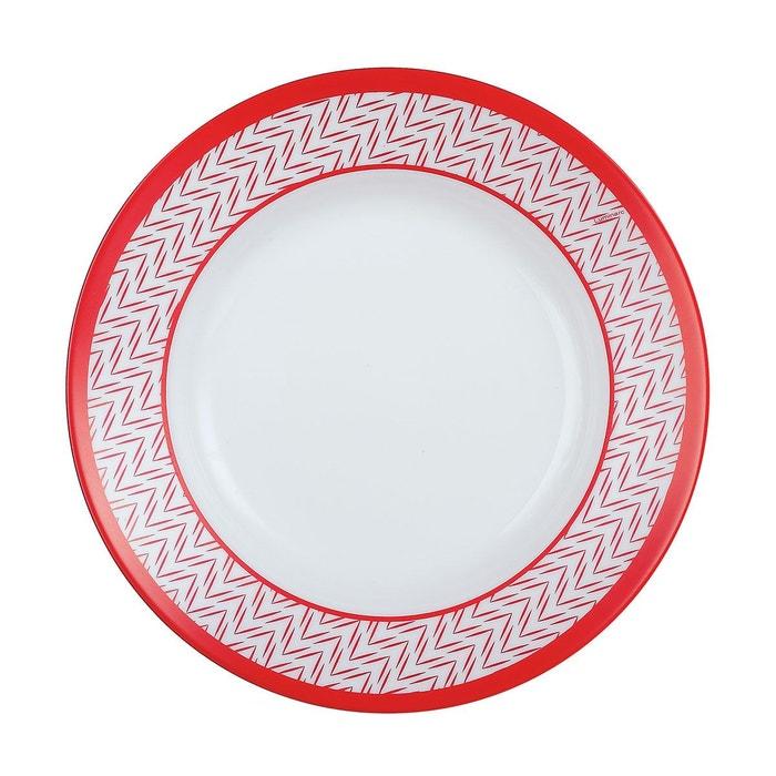 battuto assiette creuse 22 cm rouge luminarc la redoute. Black Bedroom Furniture Sets. Home Design Ideas