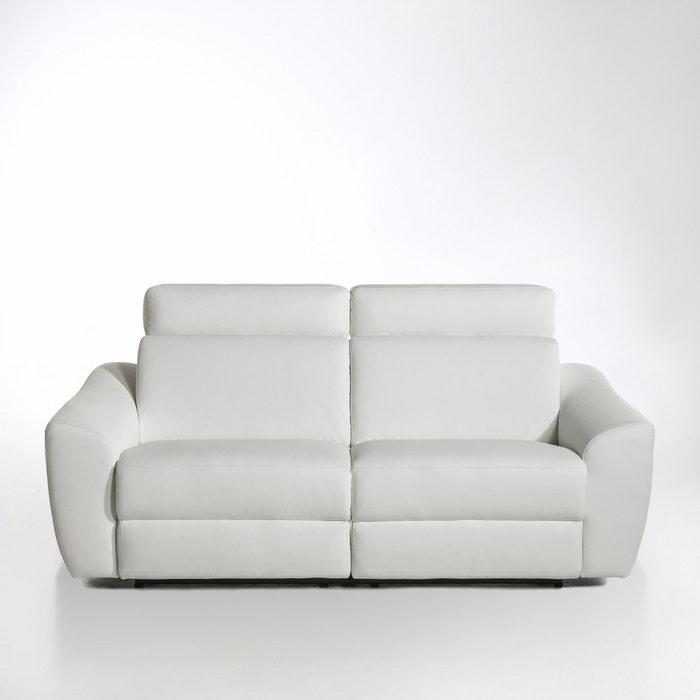 afbeelding Elektrische relax canapé Nando in leer La Redoute Interieurs
