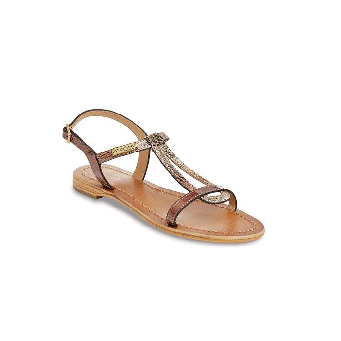 Sandales cuir hamat cuivre Les Tropeziennes Par M Belarbi