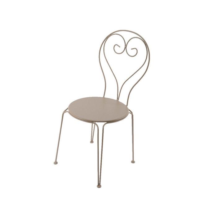 chaise de jardin effet fer forg taupe couleur unique kaemingk la redoute. Black Bedroom Furniture Sets. Home Design Ideas