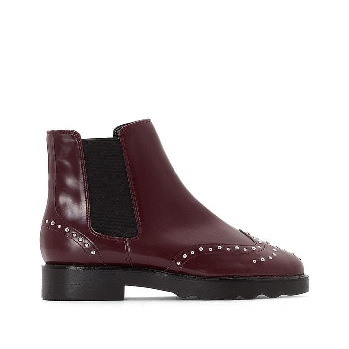 Boots bout fleuri clouté, talon 3,5 cm La Redoute Collections