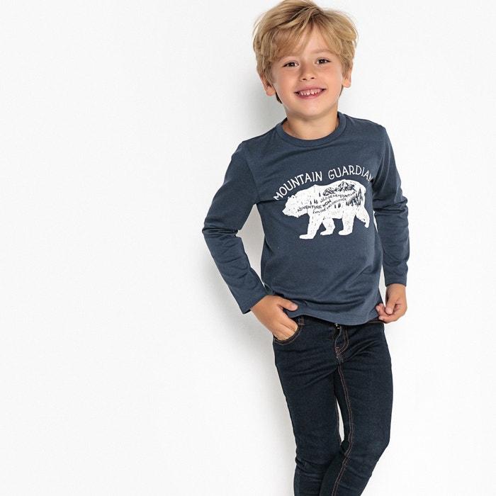 "T-shirt motivo ""orso"" 3 - 12 anni  La Redoute Collections image 0"
