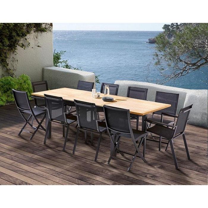 Table et chaises de jardin moderne Bali 4 chaises 6 fauteuils