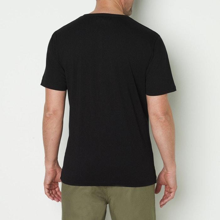 con lisa CASTALUNA tunecino cuello FOR Camiseta MEN corta manga wqwfxS1I