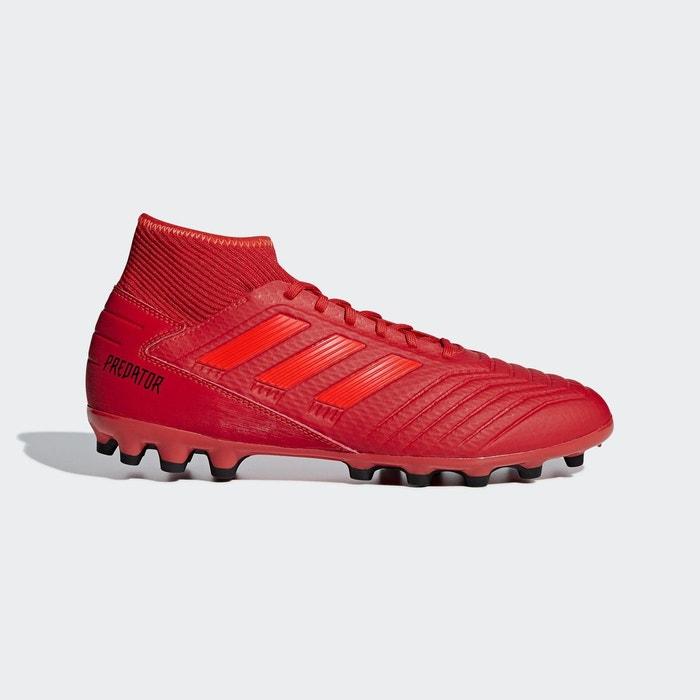 Performance 3 Rouge Synthétique Terrain Chaussure Adidas 19 Predator 0wqaazf