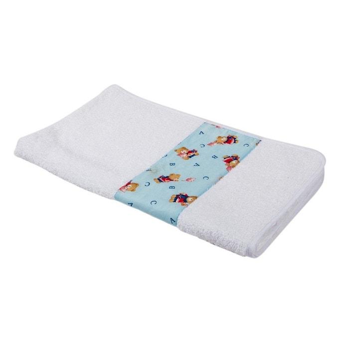 serviette de bain bouclette ponge pour enfant abc bleu blanc linandelle la redoute. Black Bedroom Furniture Sets. Home Design Ideas