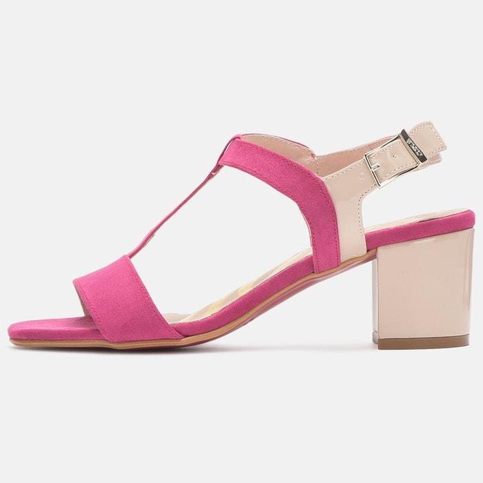 Sandales à talon  fushia Cuple  La Redoute