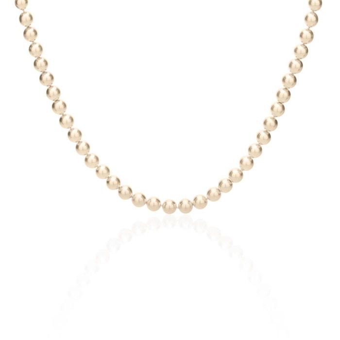 Collier plaqué or perle blanc Cleor | La Redoute Date De Sortie Pas Cher En Vente Achats En Ligne À Vendre Prix Pas Cher De La France Iae50JLNb