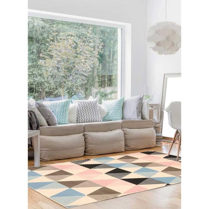 Tapis De Salon Moderne Design Scandinave Bc Triangle Pastel   Polypropylène  Fabriqué En Europe Multicolore Un Amour De Tapis | La Redoute