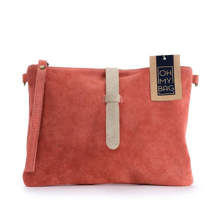 Exceptionnel Sac à main pochette femme en cuir nubuck - modèle twiggy Oh My Bag  AJ14
