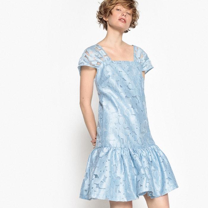 Платье с короткими рукавами и цветочным рисунком из органзы  MADEMOISELLE R image 0