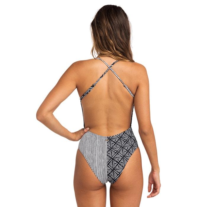 7515b686696 Coast to coast graphic striped print swimsuit , black, Rip Curl   La ...