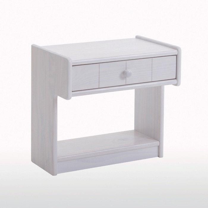 chevet pin massif gaby blanc la redoute interieurs la redoute. Black Bedroom Furniture Sets. Home Design Ideas