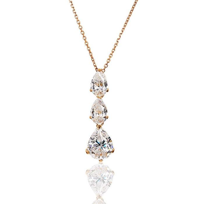 Collier or 375/1000 oxyde de zirconium blanc Cleor | La Redoute La Sortie Authentique 9bddZqY6b
