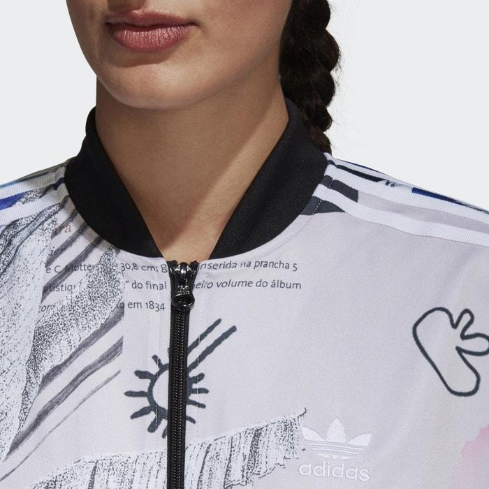 Adidas originals estampada oversize cremallera con Chaqueta FFUxdaqr