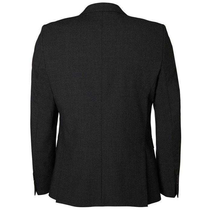 blazer gris carreaux gris selected homme la redoute. Black Bedroom Furniture Sets. Home Design Ideas