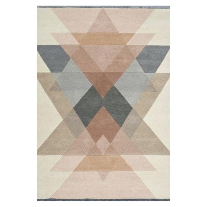 tapis d 39 int rieur en laine fait main freya rose linie. Black Bedroom Furniture Sets. Home Design Ideas