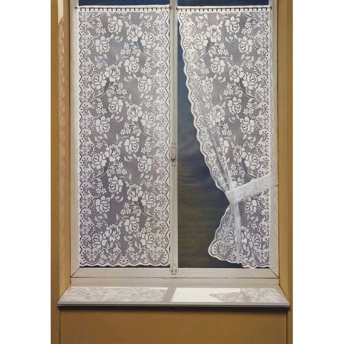 Paire de rideaux bonne femme dentelle blanc home maison la redoute - La redoute rideaux bonne femme ...