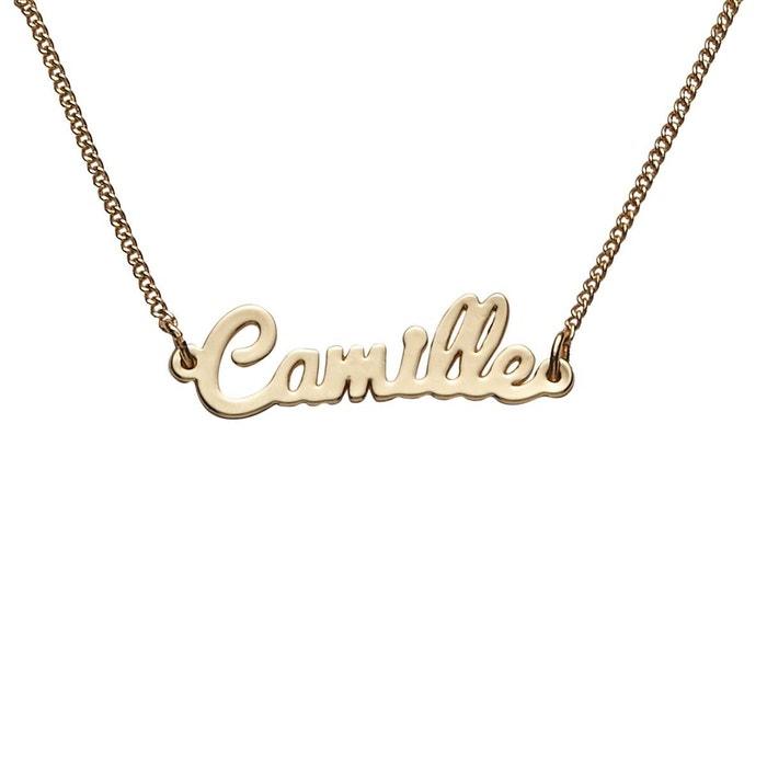 collier prenom camille
