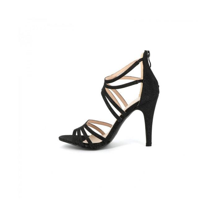 Sandales aiguille oria noir Cassis Cote Dazur
