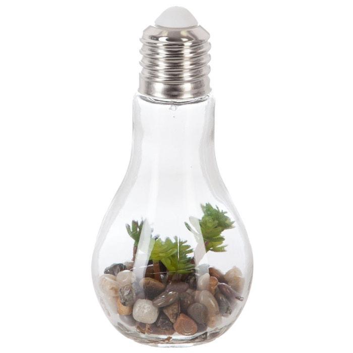 D coration lumineuse plante en ampoule h 18 5 cm for Plante lumineuse
