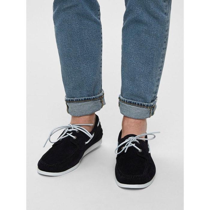 7e78884d28a Chaussures bateau daim - Selected Homme