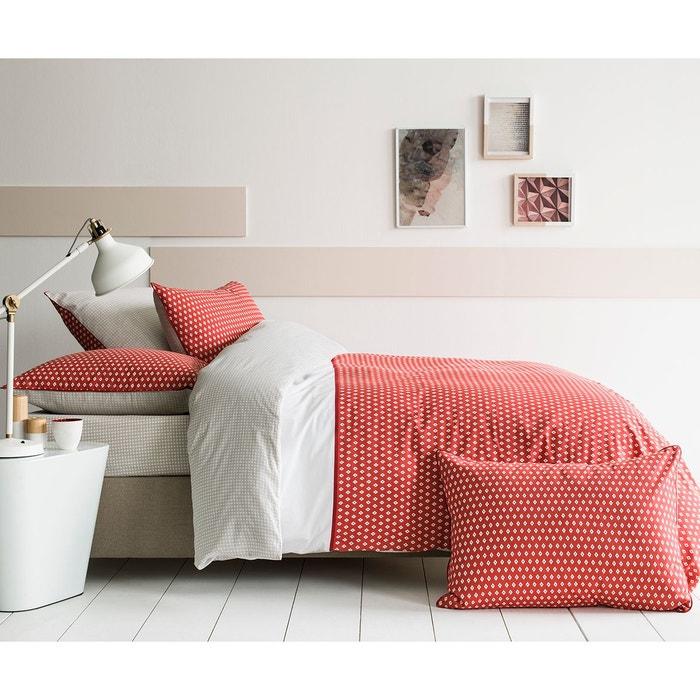 housse de couette imprim e fantaisie graphique brique 100 coton brique matt et rose la redoute. Black Bedroom Furniture Sets. Home Design Ideas