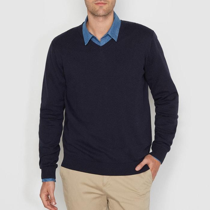 Image Sweter z dekoltem w kształcie V 100% bawełny La Redoute Collections