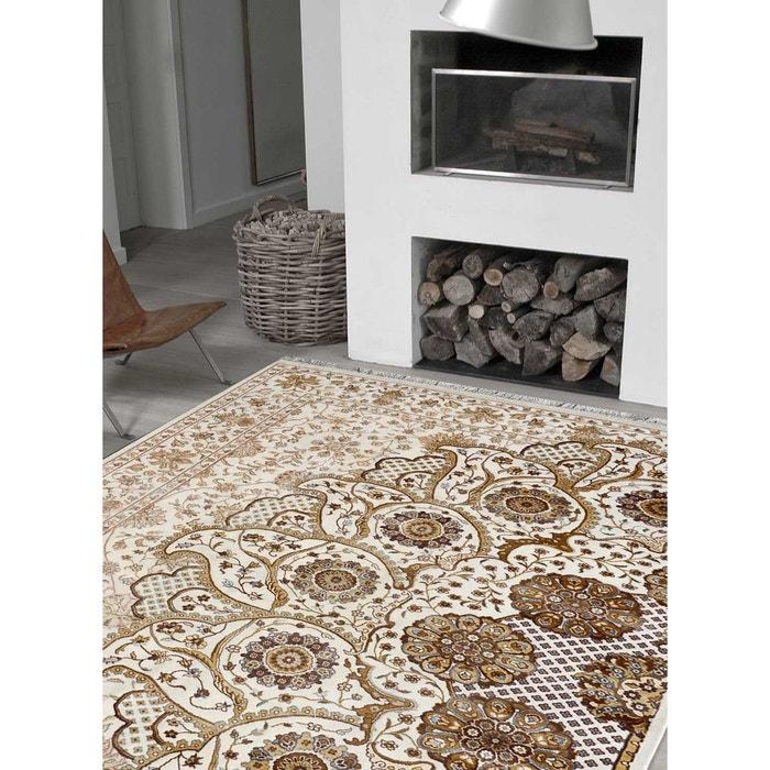 tapis de salon moderne design demi lune viscose blanc impalo la redoute. Black Bedroom Furniture Sets. Home Design Ideas