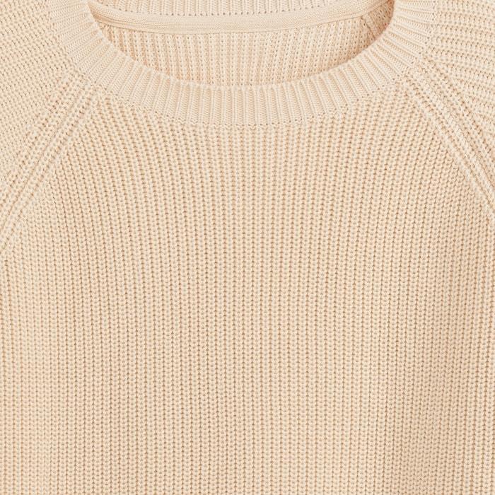 Image Sweter z fantazyjnym ściegiem, z bawełnianej dzianiny La Redoute Collections