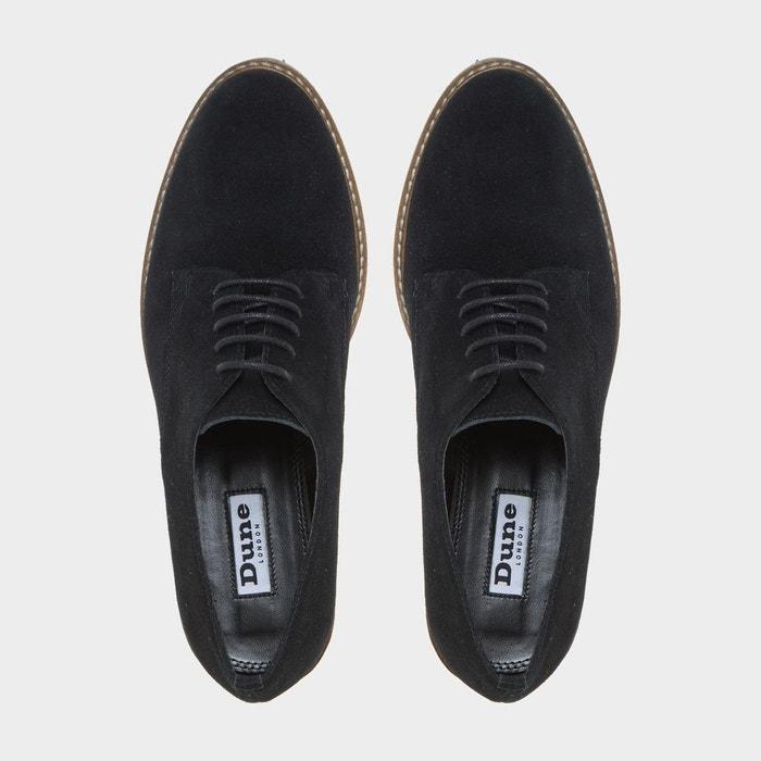 Chaussures à lacets et semelles crantées - furne noir daim Dune London